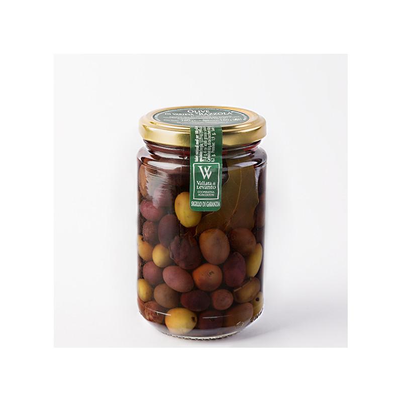 "Olive in salamoia di varietà ""Razzola"""